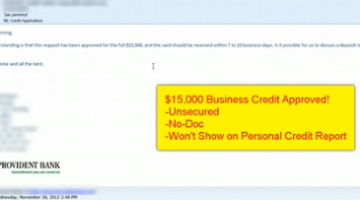 How we got $130,000 business line of credit and more…