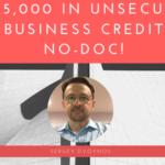 365,000 in unsecured business credit
