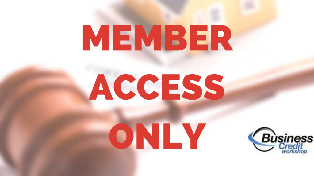 Business Credit Workshop Member Access Only