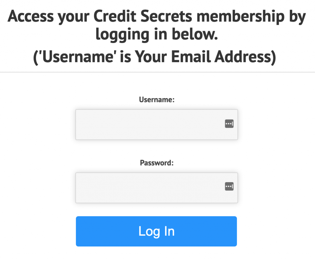 Credit Secrets Login